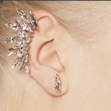 Fashion Women Lady Elegant Crystal Rhinestone Ear Stud Earrings Gift = 4600273476
