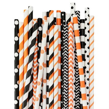 Halloween Paper Straw Assortment
