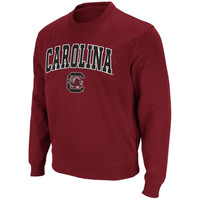 South Carolina Gamecocks Arch Logo Crew Sweatshirt – Garnet
