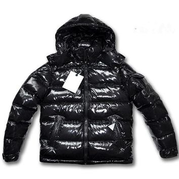 2018 Winter Fashion Boys & Mens Goose Down Coats with Hooded 80% White Duck Down Jackets Black Thicker Outwear Hommes Clothes