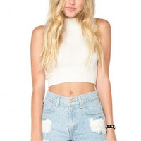 Brandy ♥ Melville |  Destroyed High-Waisted Denim Shorts