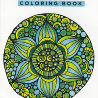 Design Originals Color Zen Perfectly Portable Adult Coloring and Activity Book by Valentina Harper