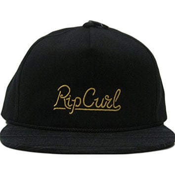 Rip Curl Men's Cabana Snapback Hat, Black, One Size