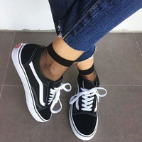 """Vans"" With Fur Warm Casual Shoes+GIFT Send free mesh socks"