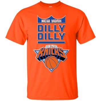 NEW YORK KNICKS : DILLY DILLY : NBA : Cotton T-Shirt