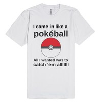 Like a pokéball-Unisex White T-Shirt
