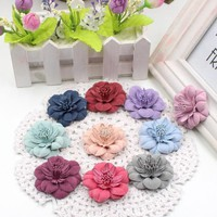 New 5pcs/lot High Quality Peony Artificial Flower Head Decorative Artificial Flowers Diy Wedding Shoes Headdress Collage Crafts
