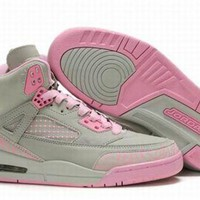 Hot Air Jordan 3.5 Spizike Retro Women Shoes Grey Pink