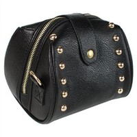JAVOedge Studded Small Shoulder Bag for Fujifilm Instax Camera (Black)