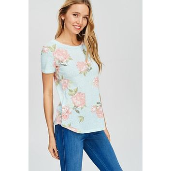 The Sammie Floral Mint Top