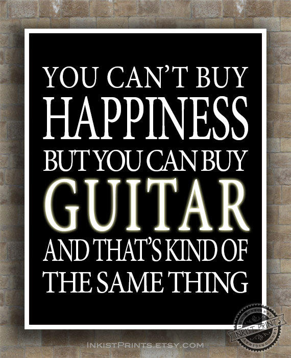 Guitar Inspirational Quote Poster, From Inkist Prints