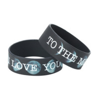 I Love You To The Moon Rubber Bracelet 2 Pack
