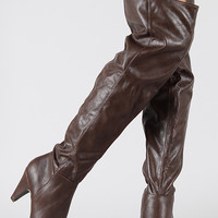 Qupid Method-01 Slouchy Thigh High Boot