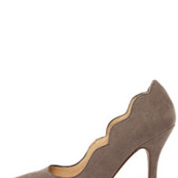 Chinese Laundry Savvy Ash Grey Suede Pointed Pumps