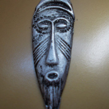 African Mask Charms, face pendant, Africa, Tribal  Mask, Ethnic, Jewelry,  Pendants,  tin, Ancient, Spiritual, Symbol,