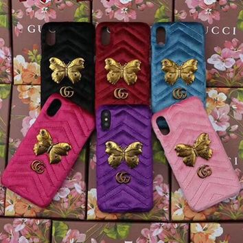 GUCCI Fashion Cortex iPhone Phone Cover Case For ( iPhone X )