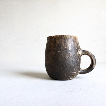 DIRTY BROWN MUG 16-18oz, ceramic, pottery, handmade, rustic, coffeemug, coffee mug, cup, handmademug, potterymug, brownmug, sturdy mug