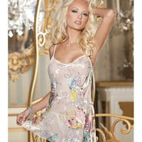 Butterfly Burnout Silk Chemise