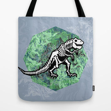T. Rex Fossil Tote Bag by chobopop | Society6