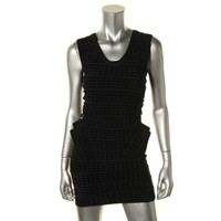 Rossmore Womens Mesh Inset Sleeveless Party Dress