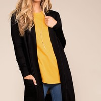 Kokette Long Cardigan - Black