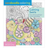 St Martins Books Zendoodle Claming Swirls Adult Coloring Book