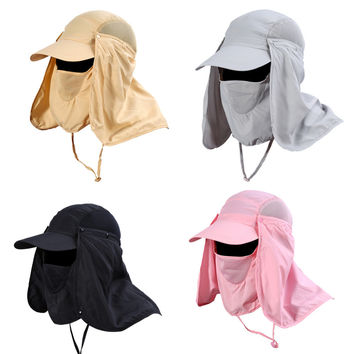 360 Degree Quick Drying UV Protection Neck Ear Cover Cap For Outdoor Fishing Hiking Scarves