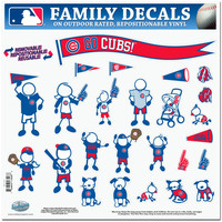 Chicago Cubs Family Decal Set Large