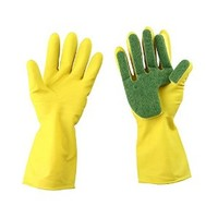 Upmagic Reusable Kitchen Cleaning Gloves Sponge Fingers, Latex-made, Household Use ,Medium, for Quickly Dishwashing, Bathroom, Car, Furniture, House Cleaning, High Heat-resistance, Water-proof