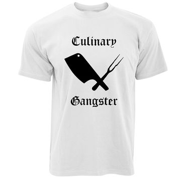 Culinary Gangster T-Shirts - Men's Crew Neck Novelty Top Tee
