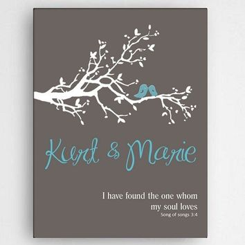 My Soul Love and Romance Canvas Sign
