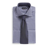 SLIM FIT HIGH COLLAR STAND FRENCH CUFF SHIRT