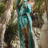 Mermaid Coat - Turquoise