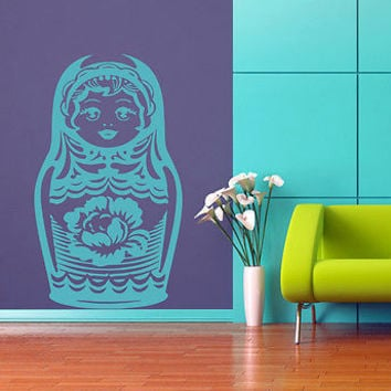 Matryoshka Russian folk Kids Room Children Stylish Wall Art Sticker Decal 8545