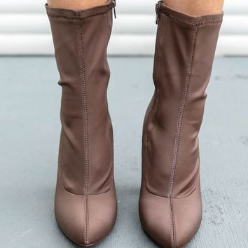 Downright Dangerous Taupe Boot