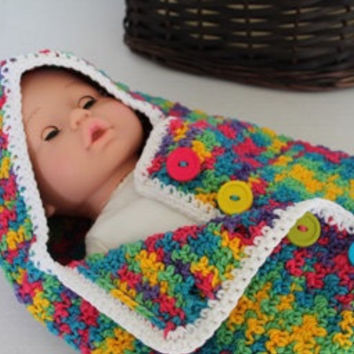 Baby Crochet Cocoon - Baby Swaddle Sack - Cocoon