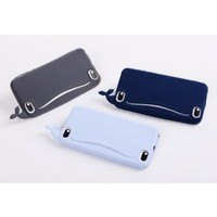 MagicPieces 3D Cute Whale Soft Silicone Case Cover For iPhone 4/4S Dark Blue