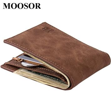 New Fashion Men's designer Canvas Thin Wallet