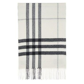 Burberry Women's Giant Check Scarf Ivory