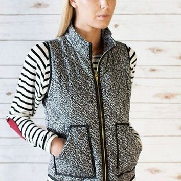 CREYOND Herringbone Harvest Vest