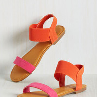 Turn the Color Way Sandal in Magenta