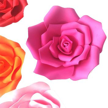 Artificial Rose Large Foam Flower Wedding Stage Background Wall Decoration  Paper flower Home Party Decor Diameter 15 25cm