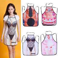 2016 1PCS  Multicolor Sexy Cooking Aprons Funny Novelty BBQ Party Apron Naked Men Women Lovely Rude Cheeky Kitchen Cooking Apron
