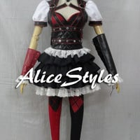 Batman Arkham Knight Harley Quinn Cosplay Costume Custom made in any size