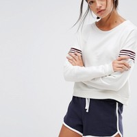 New Look Contrast Sleeve Sweatshirt