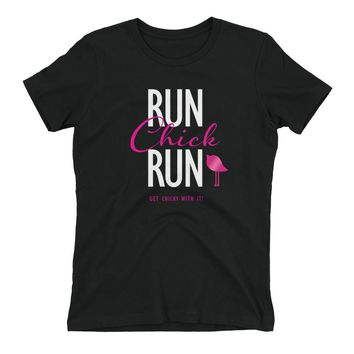 Women's t-shirt - RUN Chick RUn by Bling Chicks