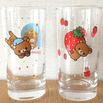 NEW San-X Rilakkuma Two super cute glasses Novelty Rear JAPAN No original box