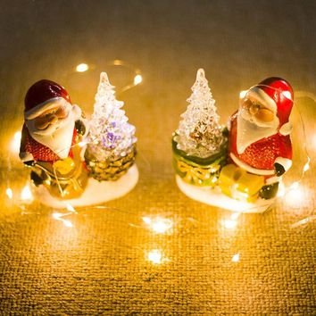 Christmas Decorations for Home Christmas Dolls Tree Ornament Xmas Standing Figurines Light Ornament Santa Claus Gift Navidad