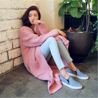 Discount Knitted Casual Autumn Coat Sweater Dress Long Knitwear Women Cardigans Charming Long Sleeve