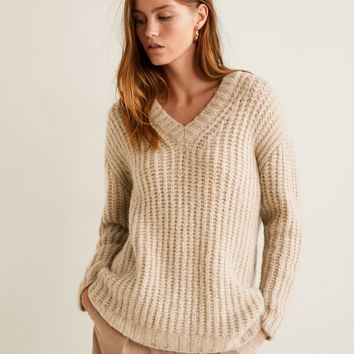 Chunky-knit sweater - Women | MANGO United Kingdom